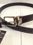 COACH 66125 HARNESS SIGNATURE EMBOSSED LEATHER CUT TO FREE SIZE REVERSIBLE BELT - MAHOGANY