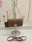 COACH 34615 COACH MINI RUBY CROSSBODY IN SIGNATURE CANVAS - KHAKI SADDLE