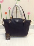 COACH 34493 PEBBLE LEATHER SMALL KELSEY SATCHEL - BLACK