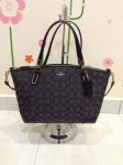 Coach 36181 Outline Signature Small Kelsey Satchel - Black Smoke