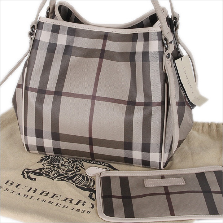 fd9b35581a5 Burberry B10 Smoke Check Canterbury Tote - Classic Luxury Handbags
