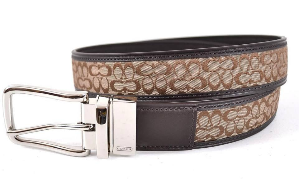 ae8146983d5 COACH 90107 REVERSIBLE SIGNATURE BELT 34