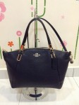 COACH 34493 PEBBLE LEATHER SMALL KELSEY SATCHEL - MIDNIGHT