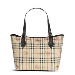 "4d3664a989e Burberry Haymarket Nickie Tote Brown size  14"" length x 11"" height x ..."
