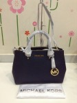 MK MICHAEL KORS  Sutton Saffiano Leather Medium Satchel - Navy
